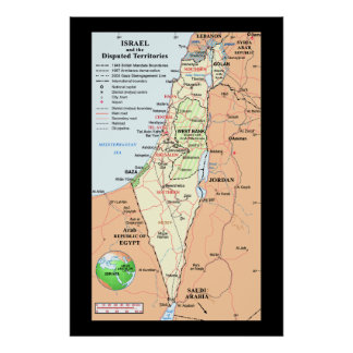 Israel - Understanding The Boundary Disputes Poster