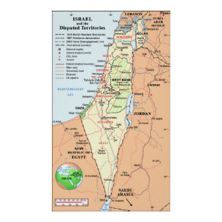 Israel - Understanding The Boundary Disputes Poster