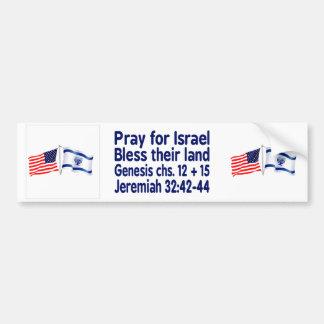 Israeli & American flag collection Bumper Sticker