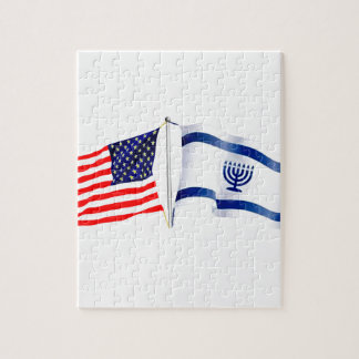 Israeli American flag collection Jigsaw Puzzle