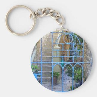 Israeli Door Basic Round Button Keychain