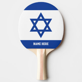 Israeli flag custom table tennis ping pong paddle