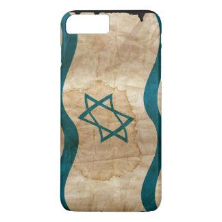 Israeli Flag in Vintage iPhone 7 Plus Case