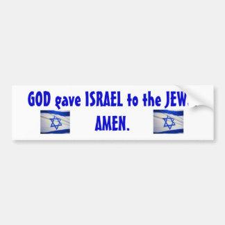 israeli_flag_Israel, israeli_flag_Israel, GOD g... Bumper Sticker