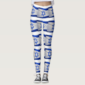 ISRAELI FLAG LEGGINGS