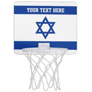 Israeli flag of Israel custom Mini Basketball Hoop