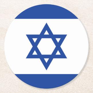 Israeli flag of Israel paper drink coasters