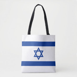 Israeli flag of Israel shopping tote bag