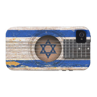 Israeli Flag on Old Acoustic Guitar iPhone 4 Cover