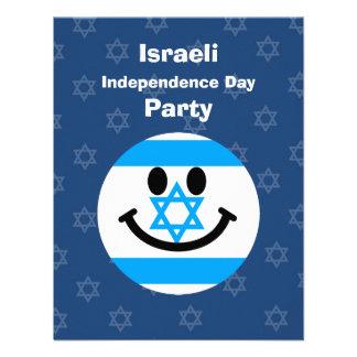 Israeli flag smiley face invites