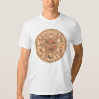 Israeli Hebrew Zodiac Wheel Tees