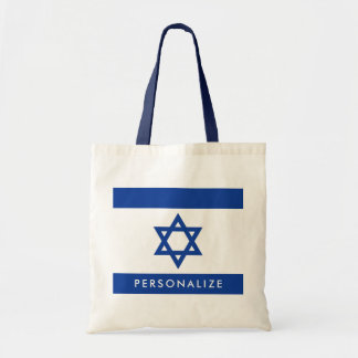 Israelian flag of Israel custom tote bag