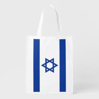 Israelian flag of Israel grocery shopping bag