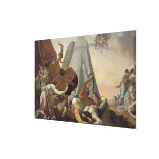 Israelites Afflicted with the Brazen Serpent Canvas Print