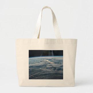 ISS-47 Lake Balkhash, eastern Kazakhstan Large Tote Bag