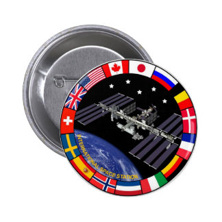 ISS Members Composite Logo 2 Inch Round Button
