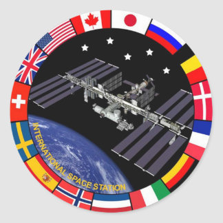 ISS Members Composite Logo Classic Round Sticker