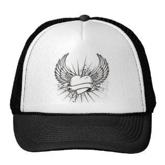 ist2_6107883-winged-heart-tattoo trucker hat