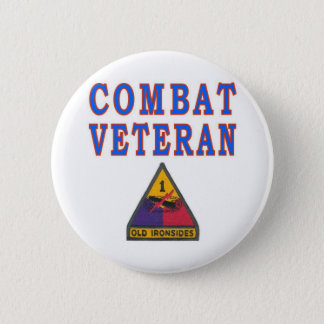 Ist ARMORED DIVISION 2 Inch Round Button