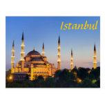 Istanbul - Blue Mosque at twilight Postkarten