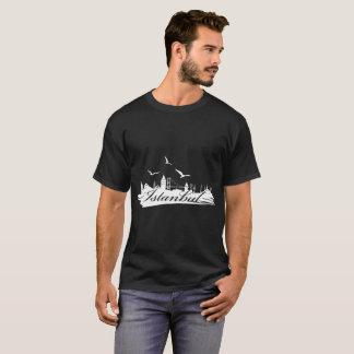 Istanbul Bosphorus Bridge Black T-Shirt for Men