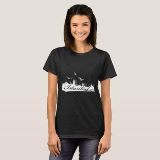 Istanbul Bosphorus Bridge Black T-Shirt for Women
