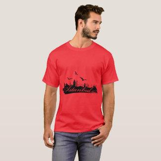 Istanbul Bosphorus Bridge Red T-Shirt for Men