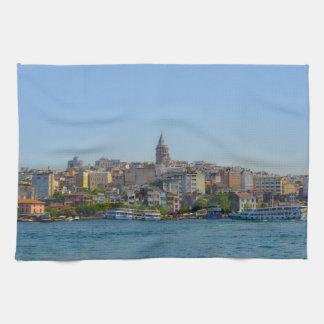 Istanbul - Galata Tower Kitchen Towel