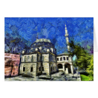 Istanbul Mosque Art Card