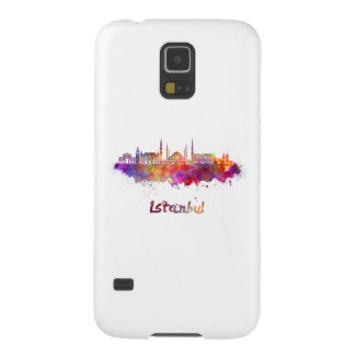 Istanbul skyline in watercolor case for galaxy s5