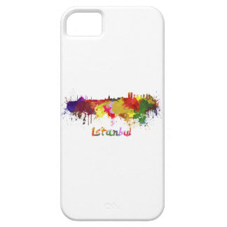Istanbul skyline in watercolor iPhone 5 cover