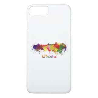 Istanbul skyline in watercolor iPhone 7 plus case