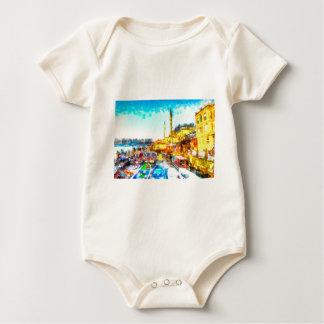 Istanbul Turkey Art Baby Bodysuit