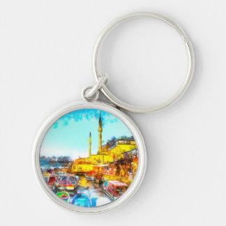 Istanbul Turkey Art Keychain