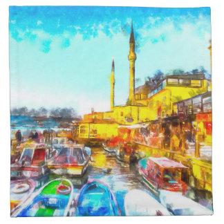 Istanbul Turkey Art Napkin