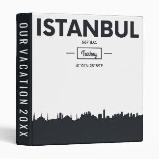 Istanbul, Turkey   City Coordinates 3 Ring Binder