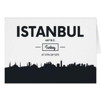 Istanbul, Turkey   City Coordinates Card