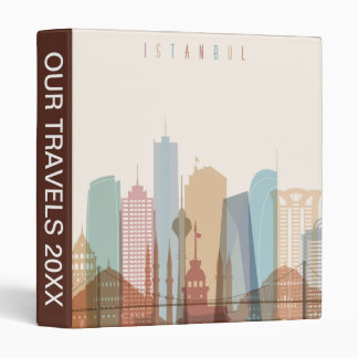 Istanbul, Turkey | City Skyline 3 Ring Binder