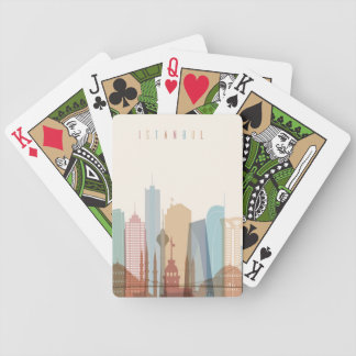 Istanbul, Turkey | City Skyline Bicycle Playing Cards