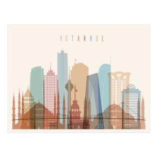 Istanbul, Turkey | City Skyline Postcard
