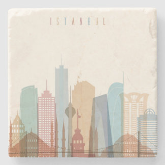 Istanbul, Turkey | City Skyline Stone Coaster