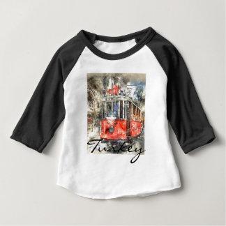 Istanbul Turkey Red Trolley Baby T-Shirt