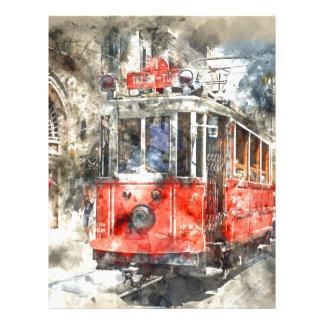 Istanbul Turkey Red Trolley Custom Letterhead