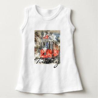 Istanbul Turkey Red Trolley Dress