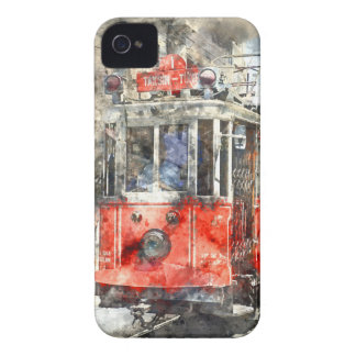 Istanbul Turkey Red Trolley iPhone 4 Case-Mate Case
