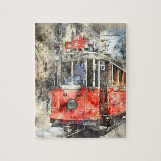Istanbul Turkey Red Trolley Puzzle