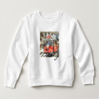 Istanbul Turkey Red Trolley Sweatshirt