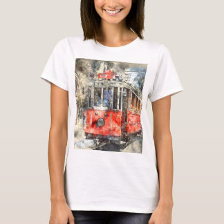 Istanbul Turkey Red Trolley T-Shirt