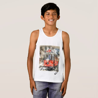 Istanbul Turkey Red Trolley Tank Top