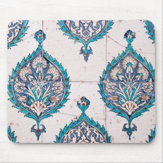 istanbul turkey tile floral mosaic texture mouse pad